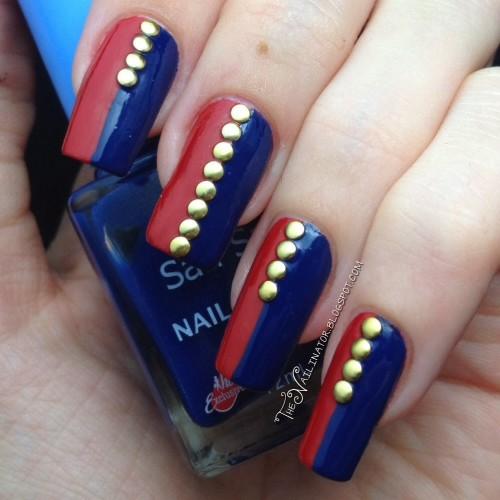 Philippine Flag Nail Art