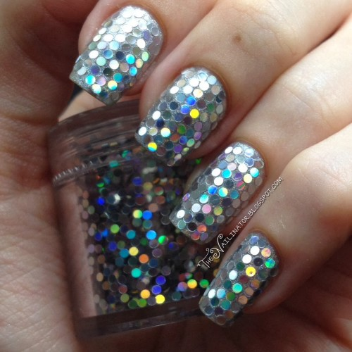 Holo Glitter nails and jar