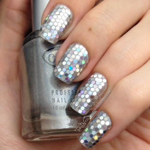 Holo Glitter Placement Nails