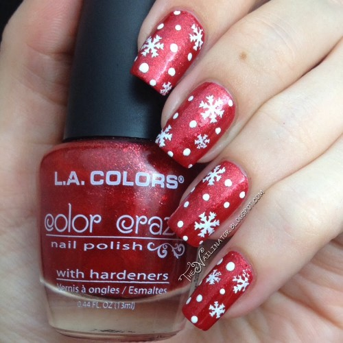 L.A. Colors Aztec Orange with snow stamping and dotting