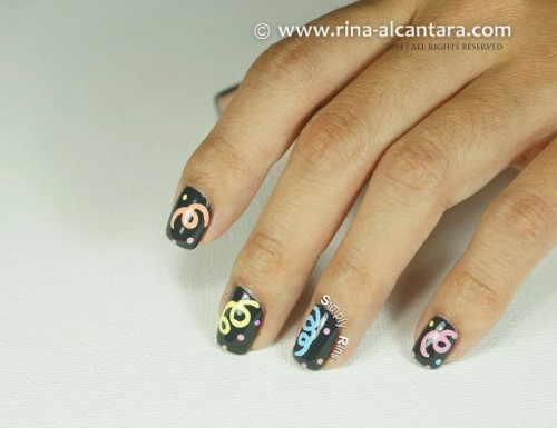 Welcoming 2014 Nail Art Design