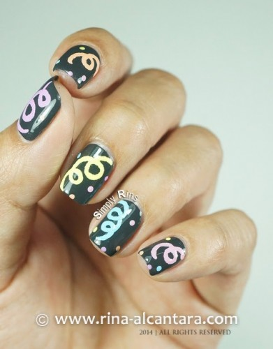 Welcoming 2014 Nail Art Design by Rina Alcantara