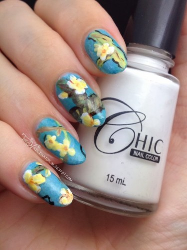 Almond Blossoms on cinderella hand
