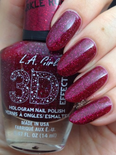 L.A. Girl Sparkle Ruby swatch