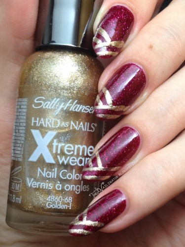 L.A. Girl Sparkle Ruby and Sally Hansen Golden-I