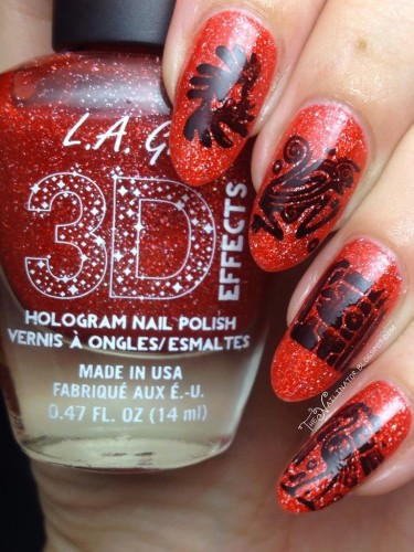L.A. Girl Electric Coral with tribal stamping