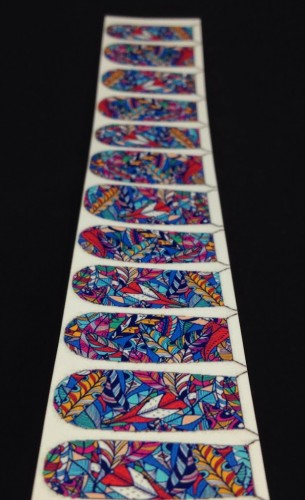 Hippie Feathers nail decals