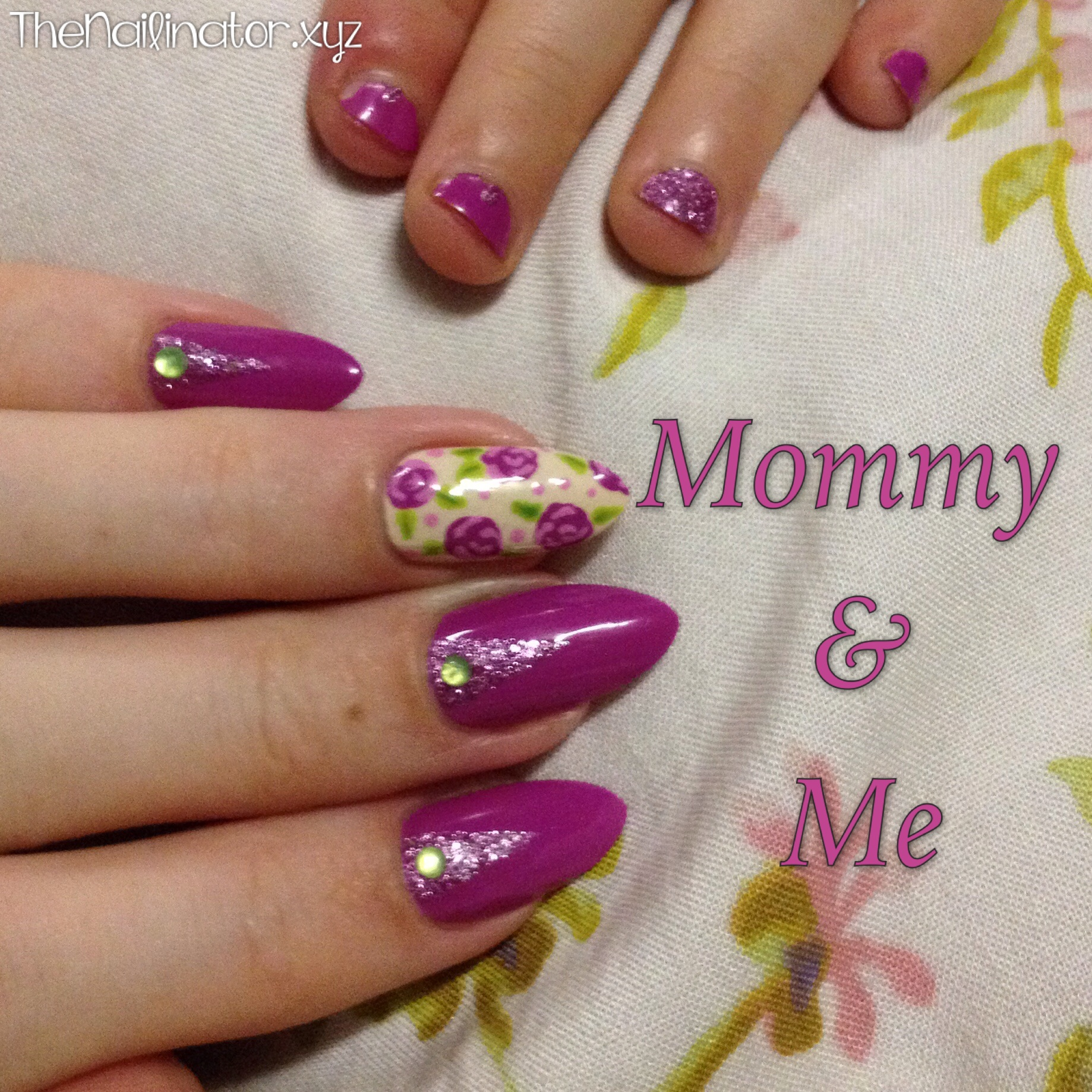 Mommy & Me manicure featuring Girlstuff Forever polishes