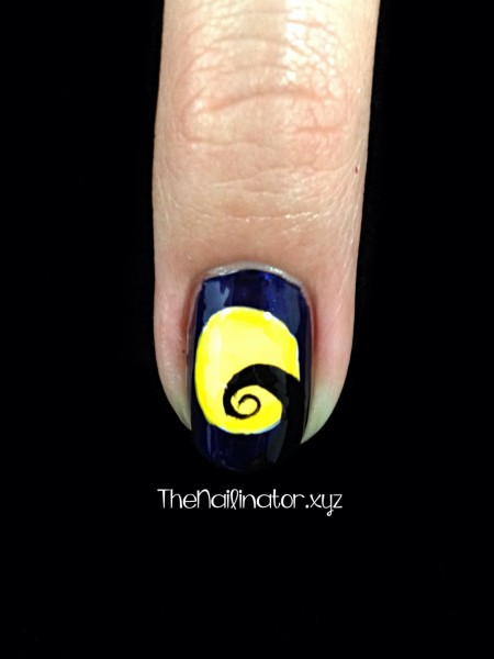 Nightmare Before Christmas Nail Art - Moon/hill