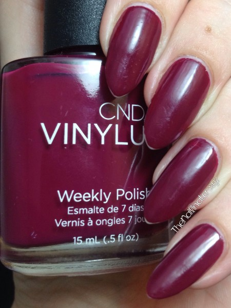 CND Vinylux Weekly Polish Tinted Love after 7 days