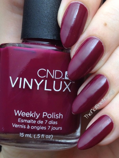 CND Vinylux Weekly Polish Tinted Love after 5 days