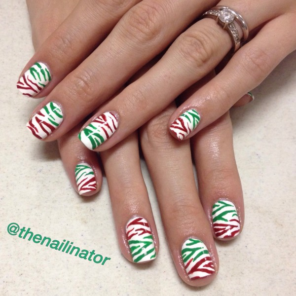 Christmas Zebra Stripes