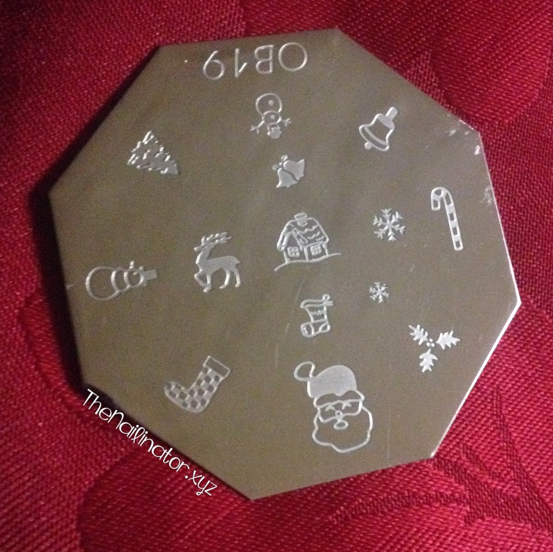 OB19 Stamping plate - Christmas images