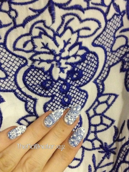 My nails and my dres