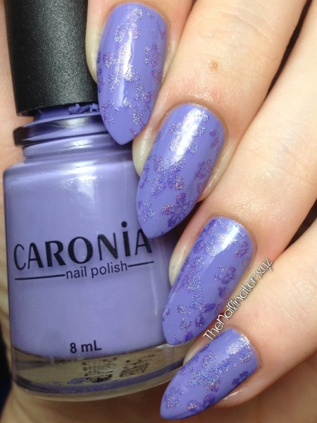 Caronia First Crush with subtle holo stamping