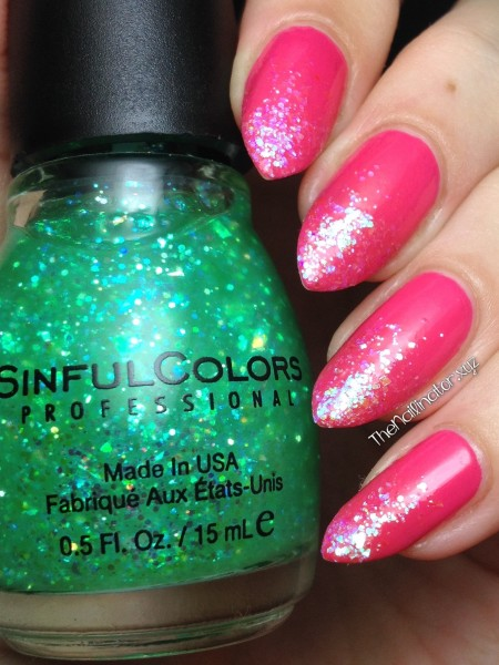 Pink Bikini by CND with Glittery tips