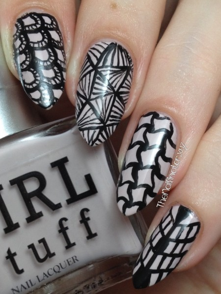 Girlstuff Sophia with Zentangle Nail art