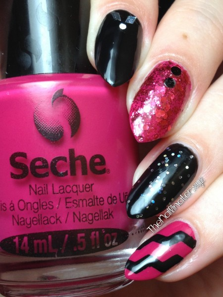 Fun and Funky pink and black skittles