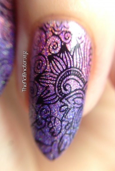 Macro of Color Club Gradient with Stamping