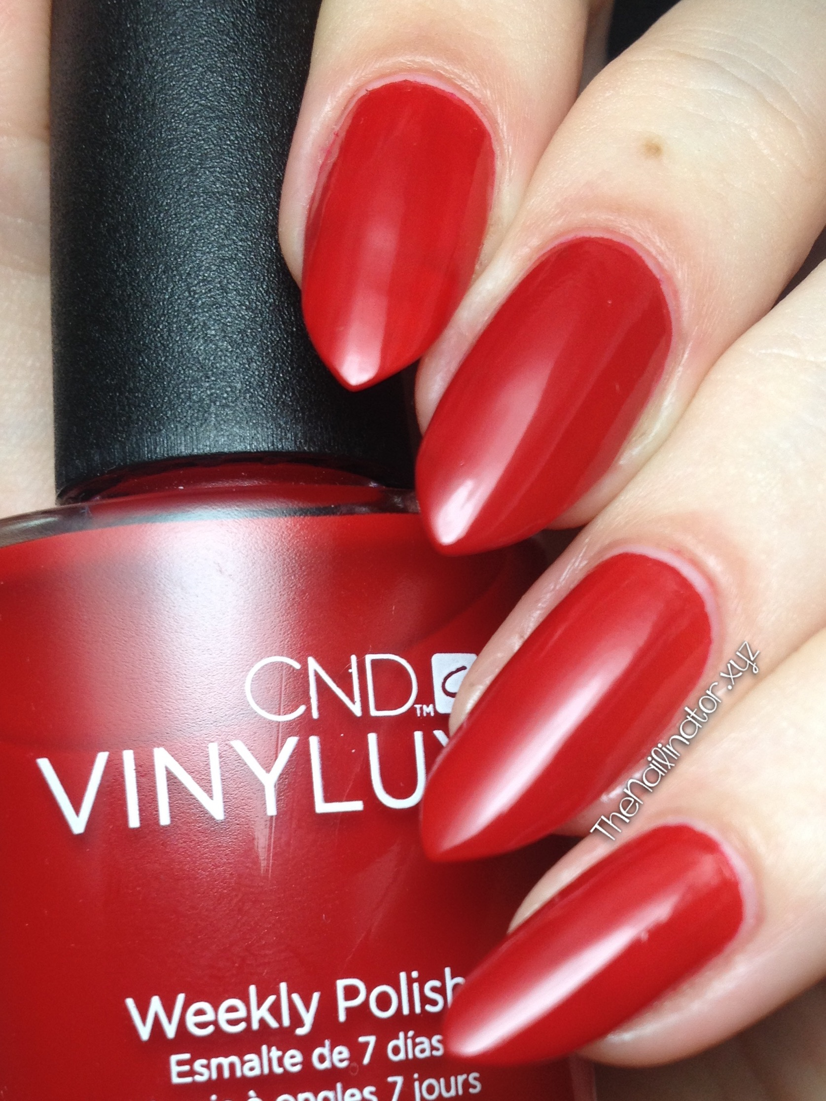 Swatches Of Cnd Vinylux Rouge Red And Rock Royalty The Nailinator